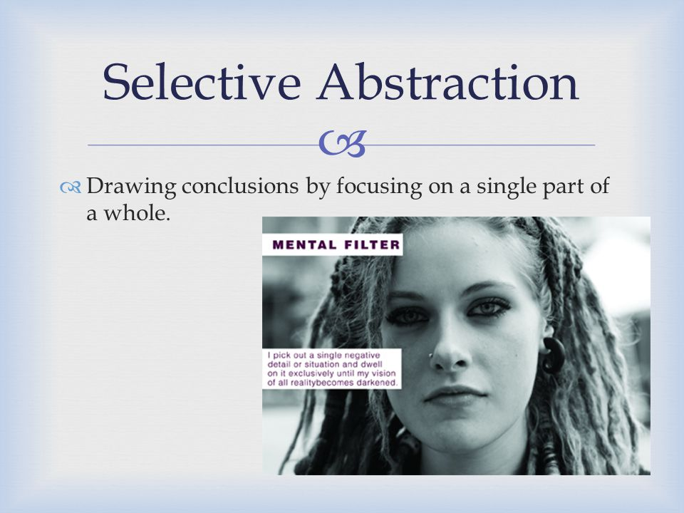 Selective Abstraction