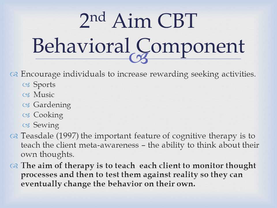 2nd Aim CBT Behavioral Component