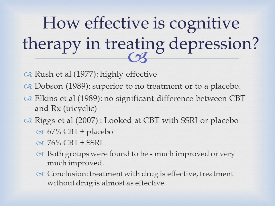 How effective is cognitive therapy in treating depression