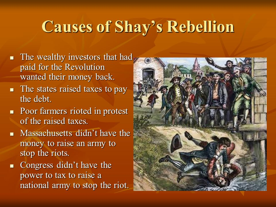Causes of Shay's Rebellion