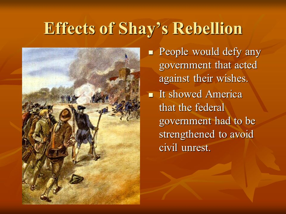 Effects of Shay's Rebellion