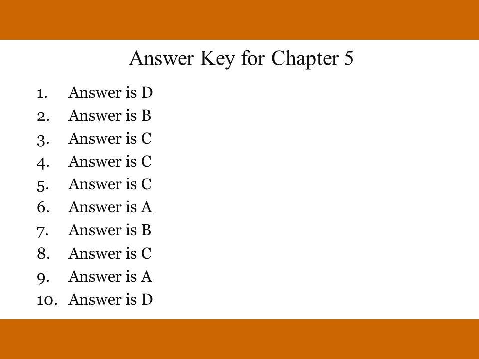 Answer is D Answer is B Answer is C Answer is A