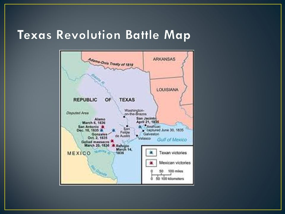 Texas Revolution Battle Map