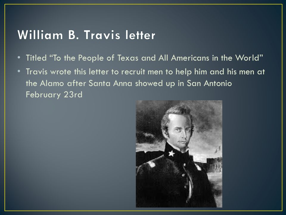 William B. Travis letter
