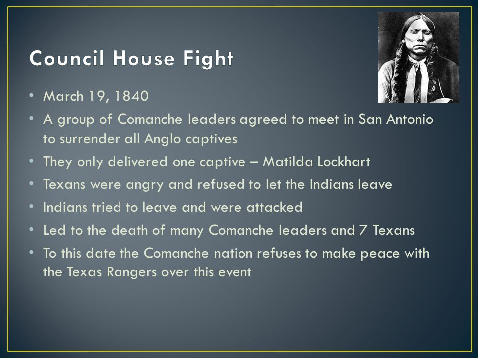 Council House Fight March 19, 1840