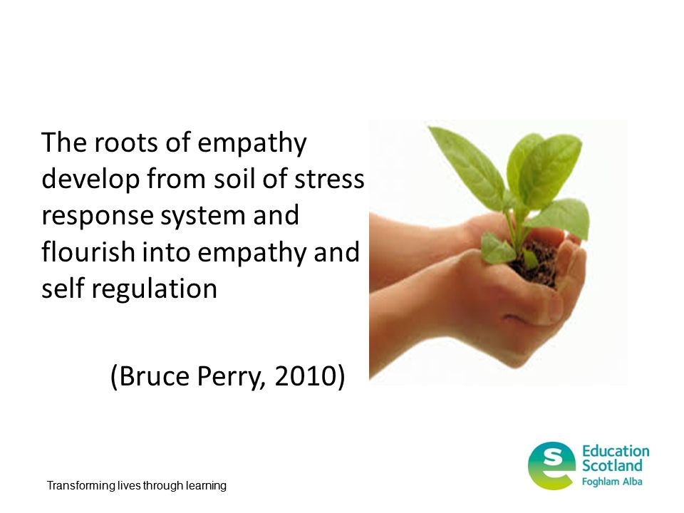 The roots of empathy develop from soil of stress response system and flourish into empathy and self regulation