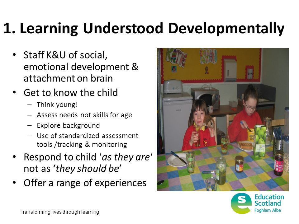 1. Learning Understood Developmentally