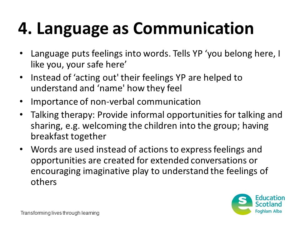 4. Language as Communication