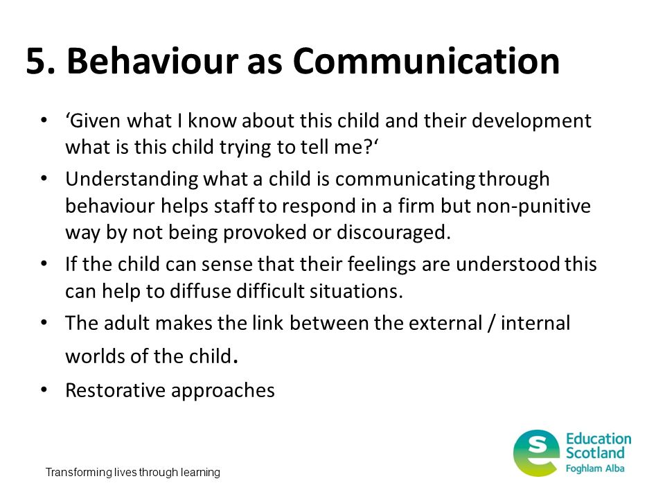 5. Behaviour as Communication