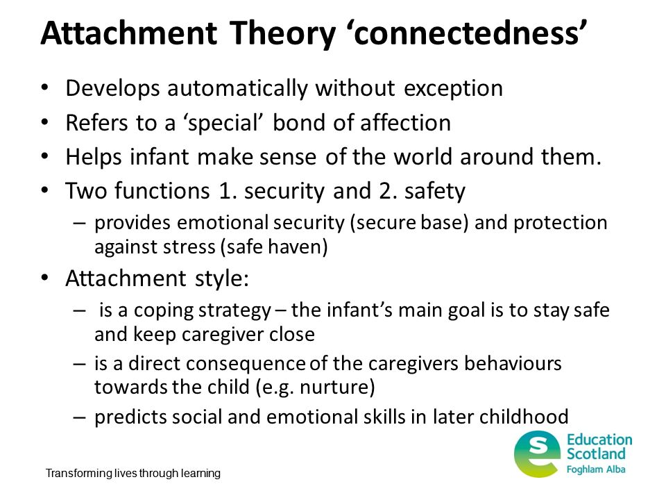 Attachment Theory 'connectedness'