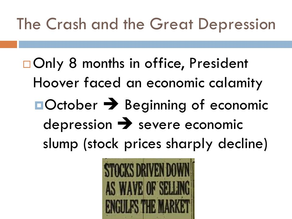 The Crash and the Great Depression