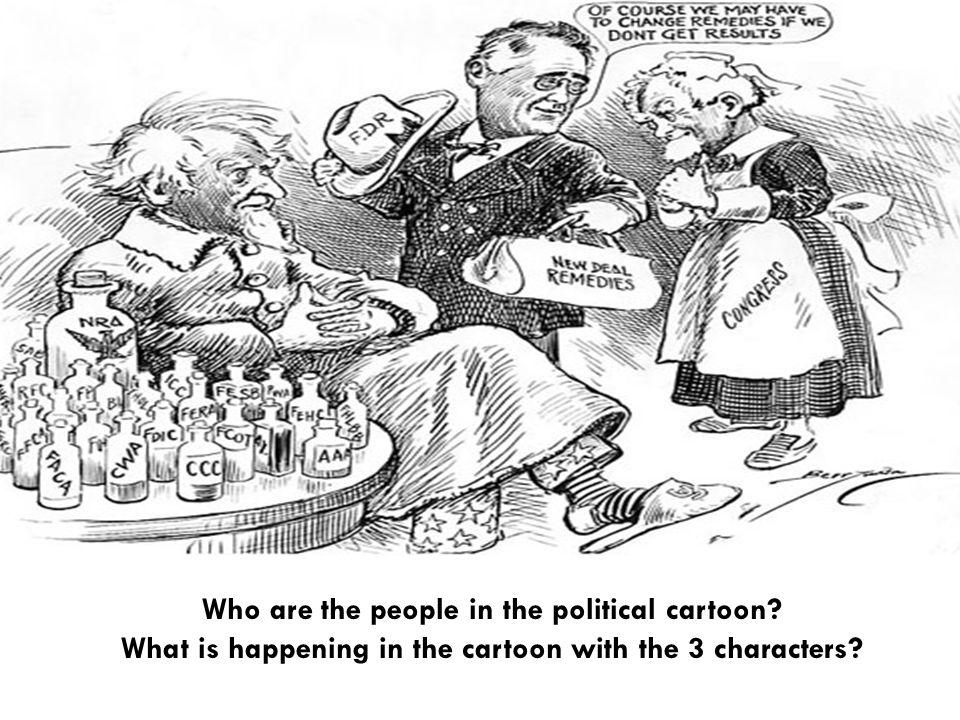 Who are the people in the political cartoon