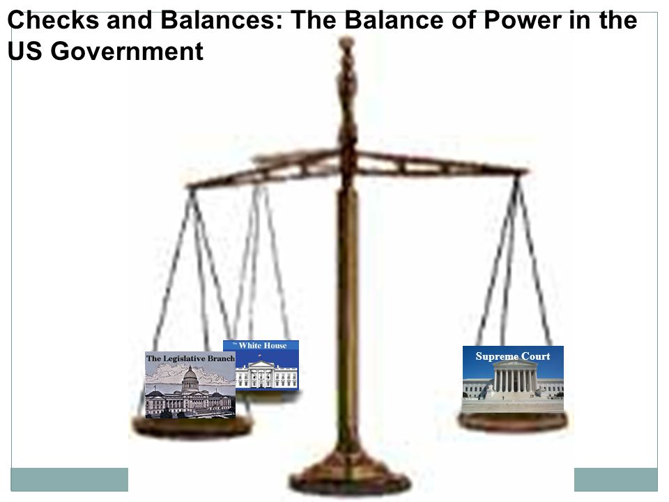 Checks and Balances: The Balance of Power in the US Government
