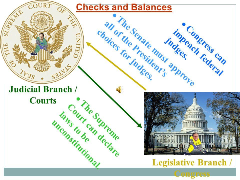 Judicial Branch / Courts Legislative Branch / Congress
