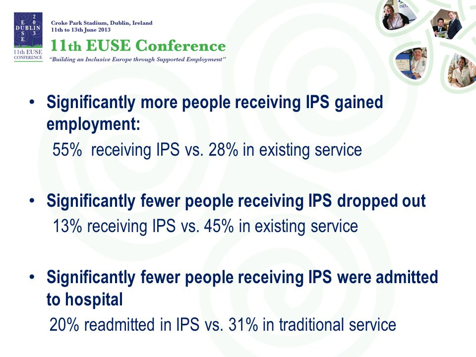 Significantly more people receiving IPS gained employment: