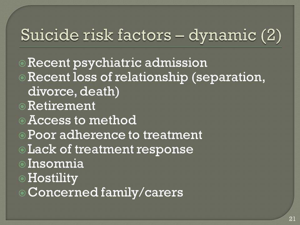 Suicide risk factors – dynamic (2)