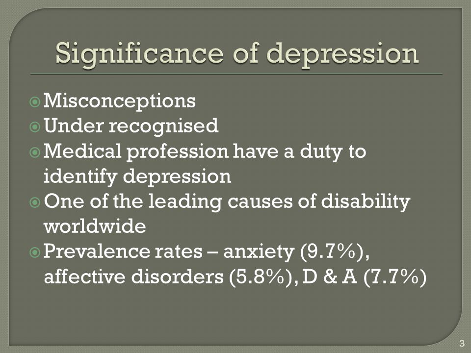 Significance of depression