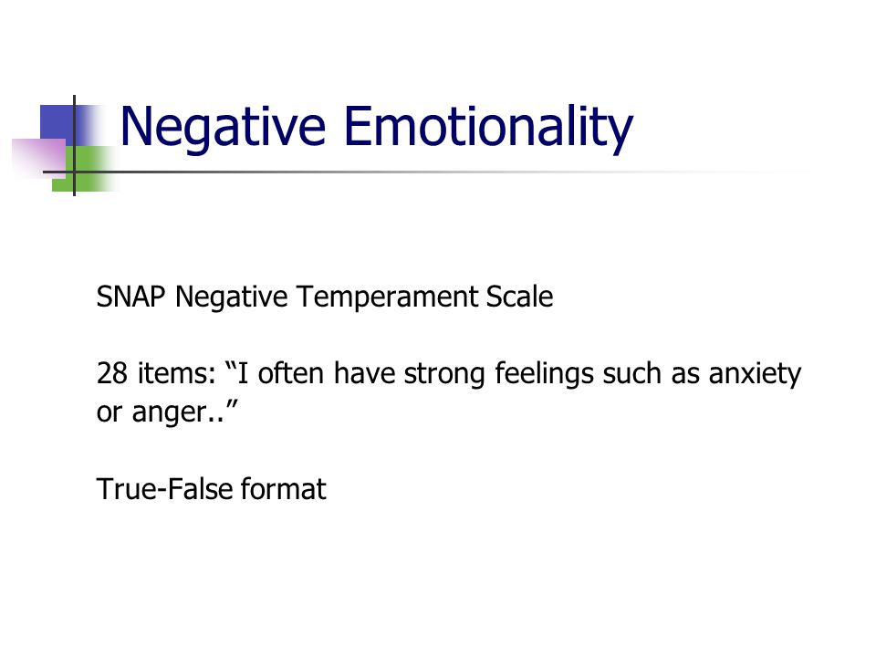 Negative Emotionality