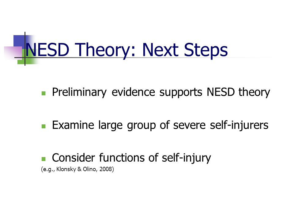 NESD Theory: Next Steps