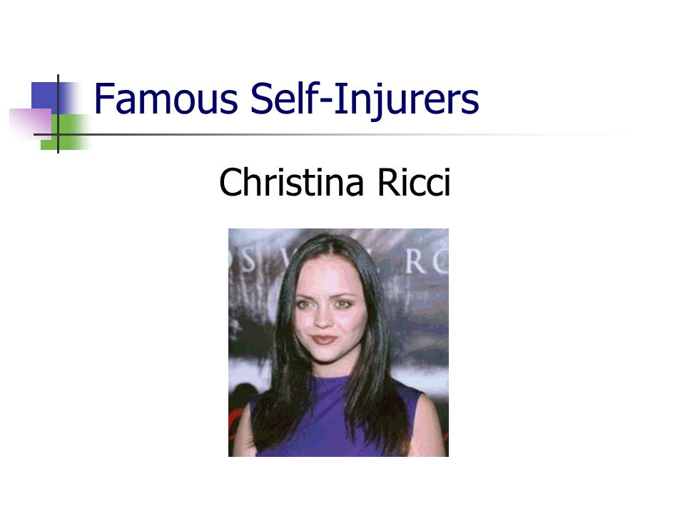 Famous Self-Injurers Christina Ricci