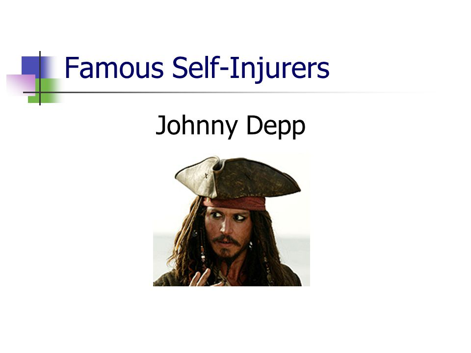 Famous Self-Injurers Johnny Depp