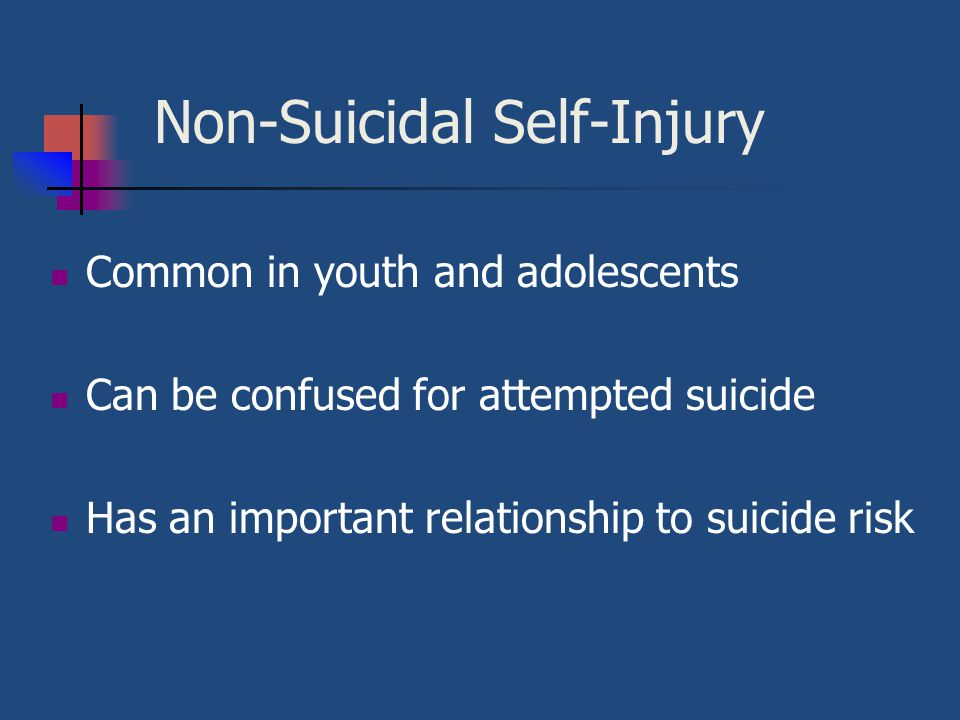 Non-Suicidal Self-Injury