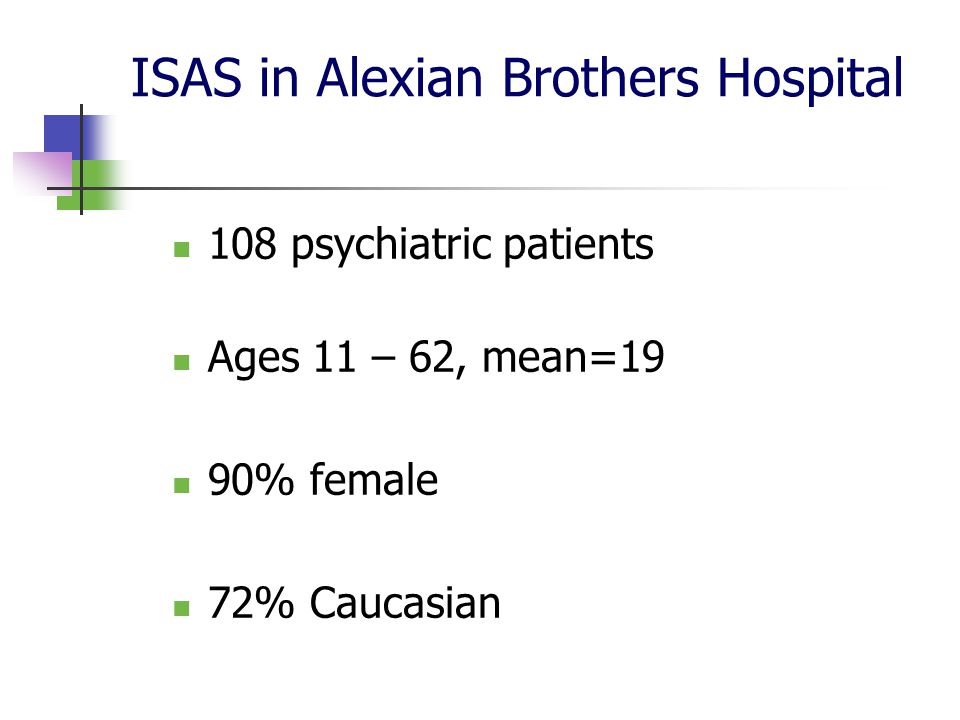ISAS in Alexian Brothers Hospital