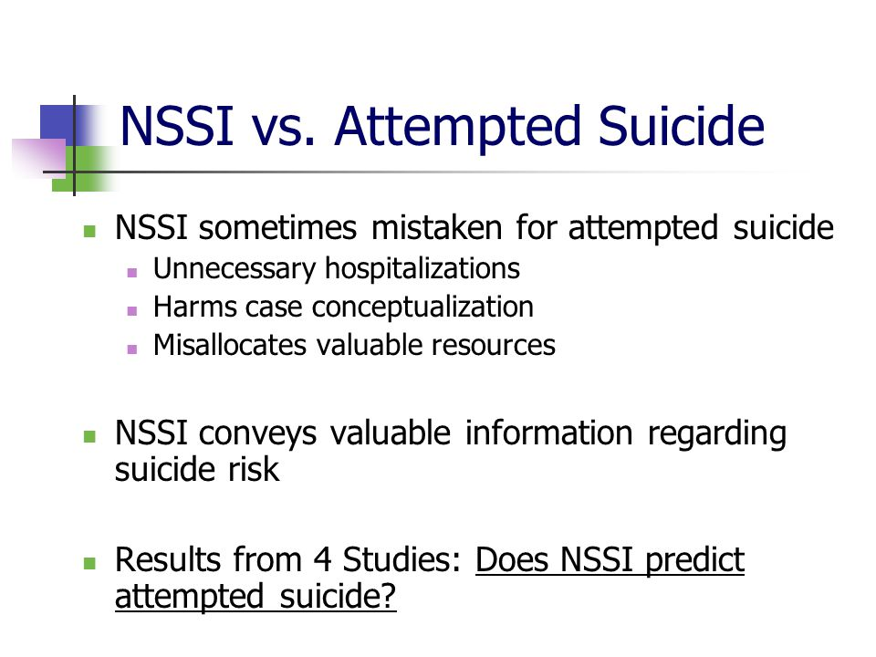 NSSI vs. Attempted Suicide