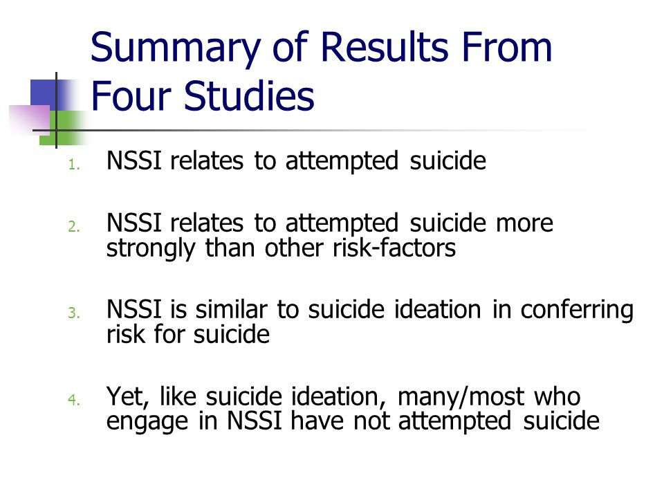 Summary of Results From Four Studies