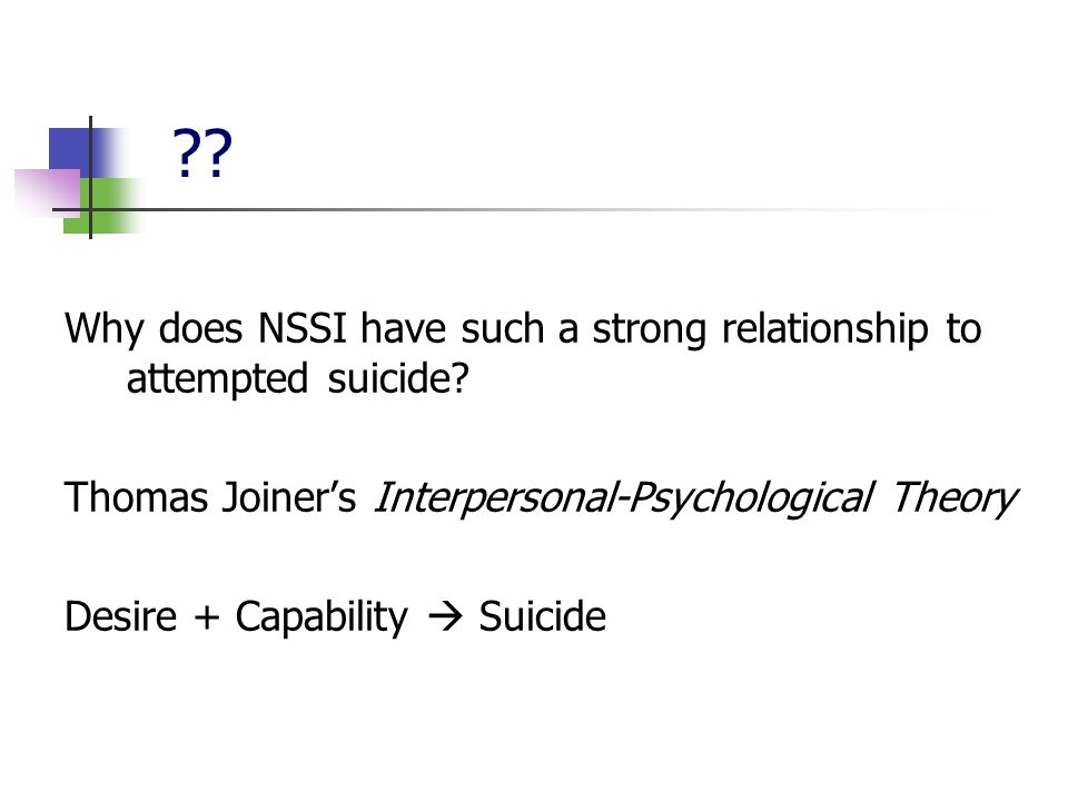 Why does NSSI have such a strong relationship to attempted suicide