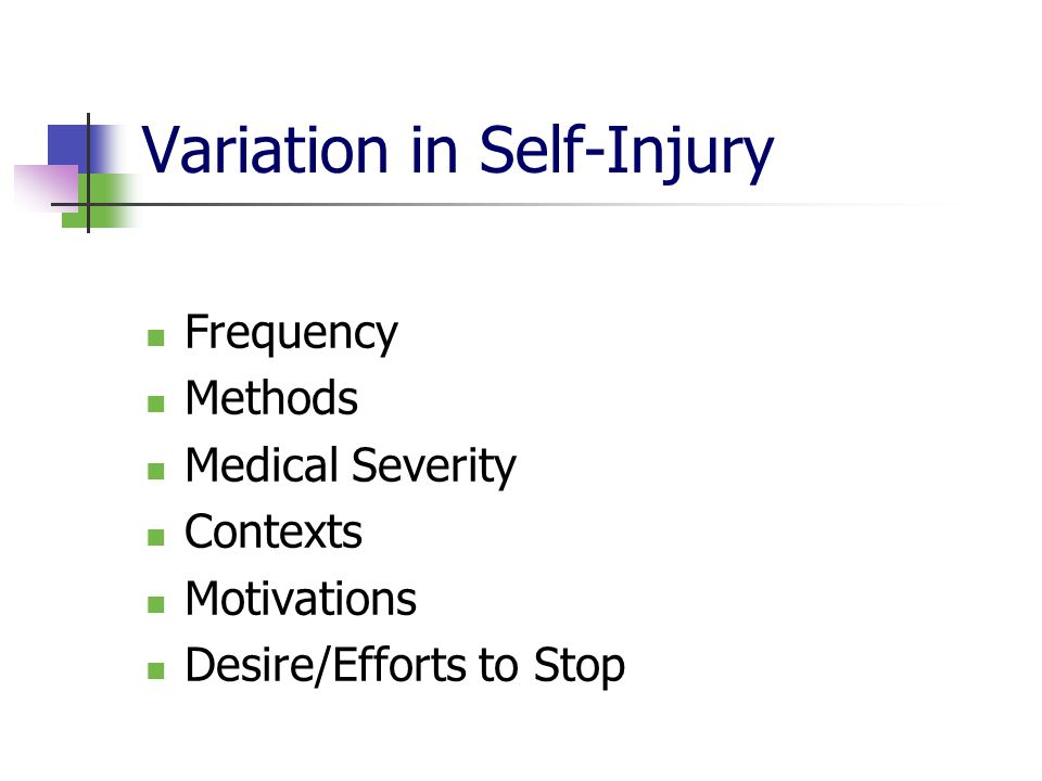 Variation in Self-Injury