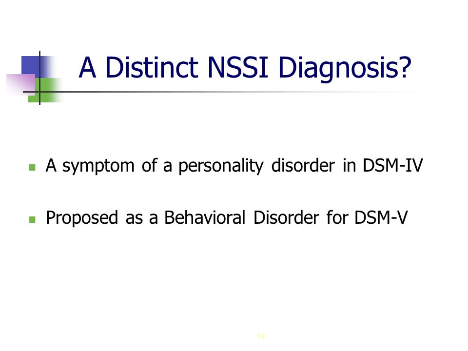 A Distinct NSSI Diagnosis