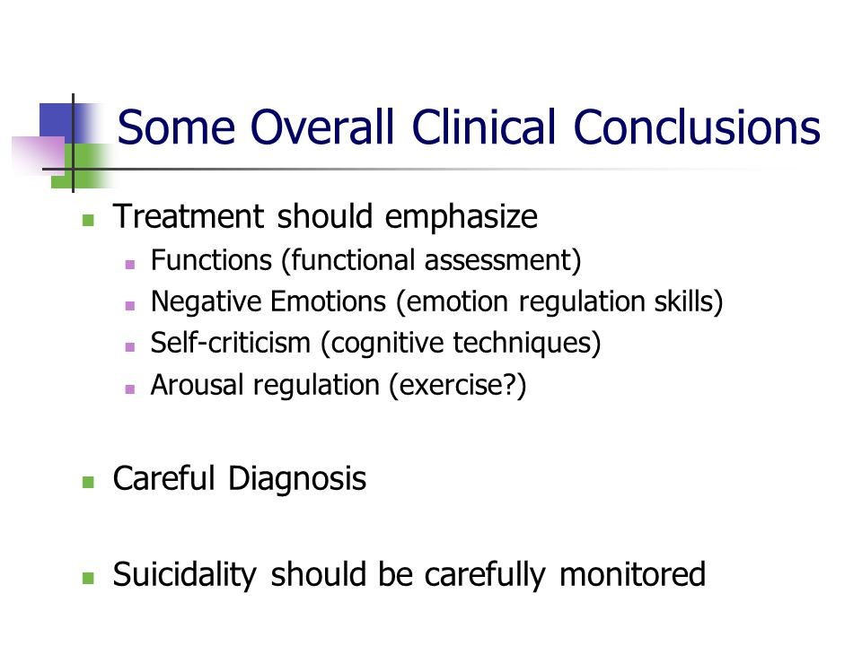 Some Overall Clinical Conclusions