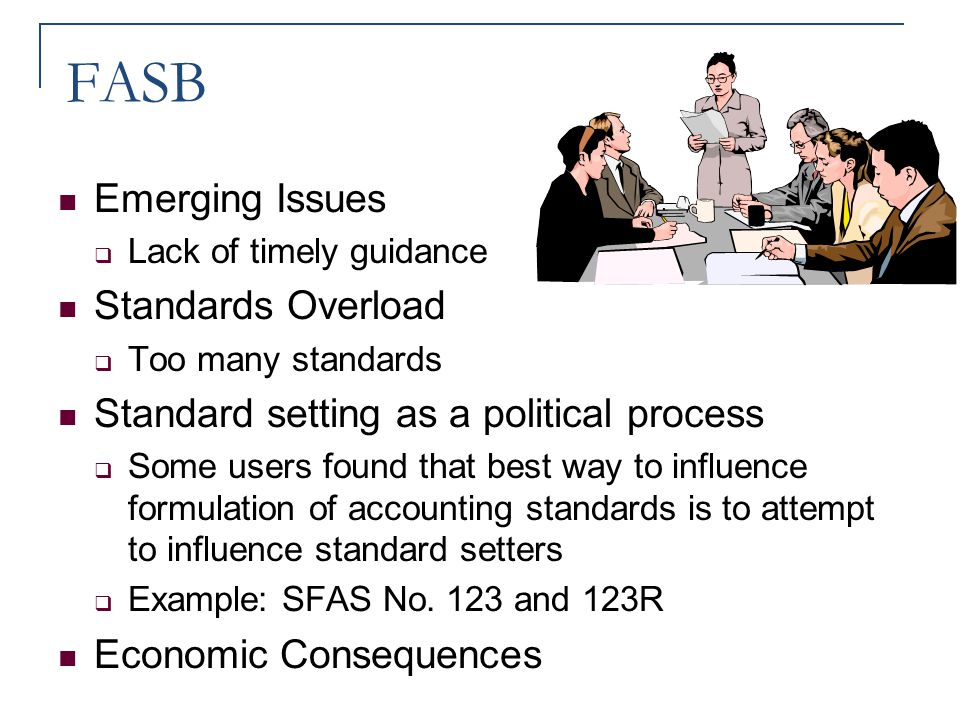 FASB Emerging Issues Standards Overload