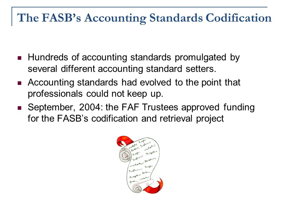 The FASB's Accounting Standards Codification