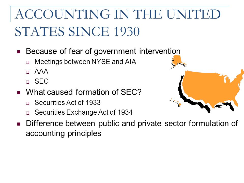 ACCOUNTING IN THE UNITED STATES SINCE 1930