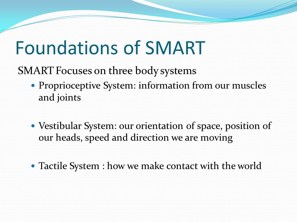 Foundations of SMART SMART Focuses on three body systems