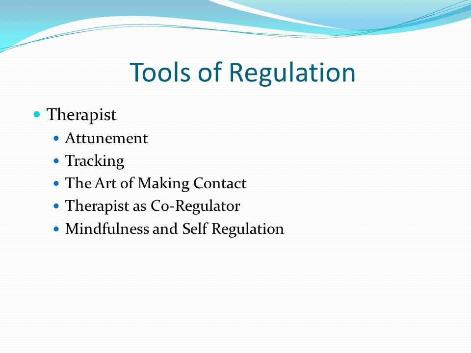 Tools of Regulation Therapist Attunement Tracking