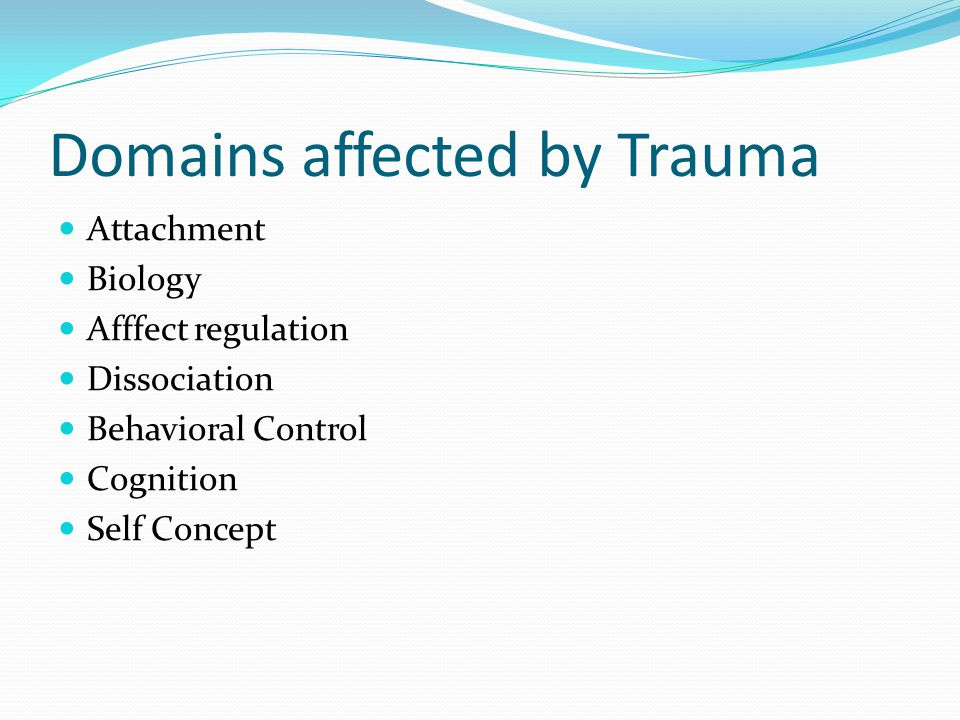 Domains affected by Trauma