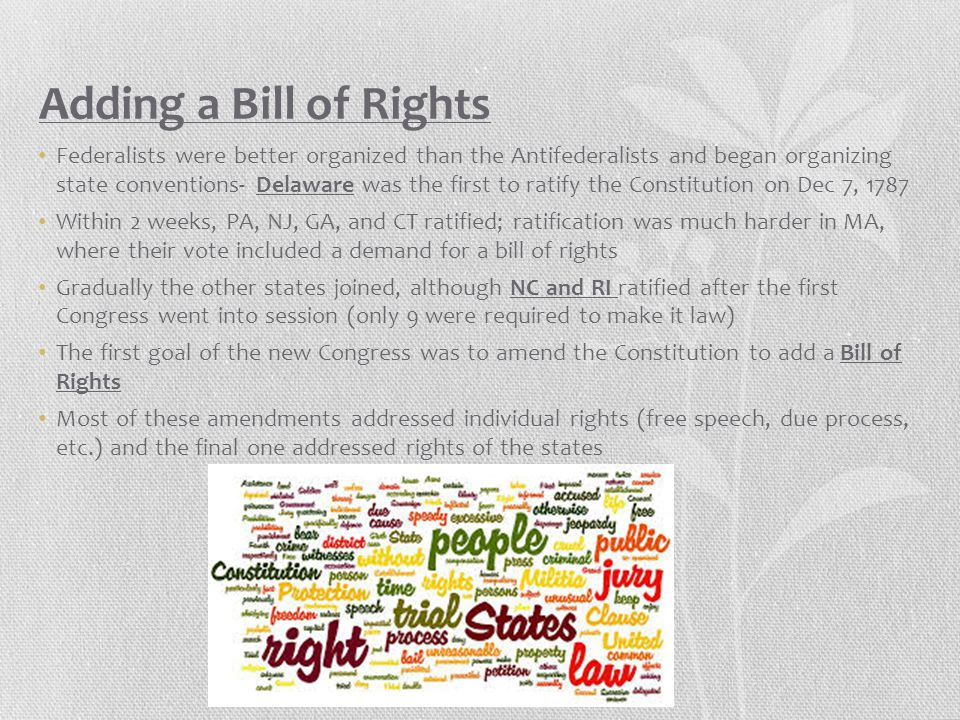 Adding a Bill of Rights