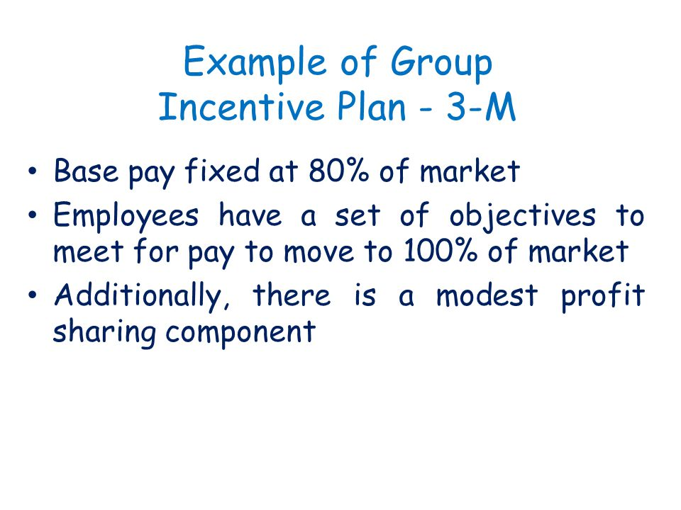 Example of Group Incentive Plan - 3-M