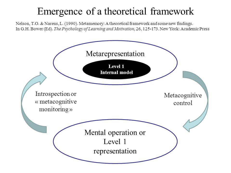 Emergence of a theoretical framework