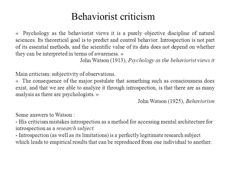 Behaviorist criticism
