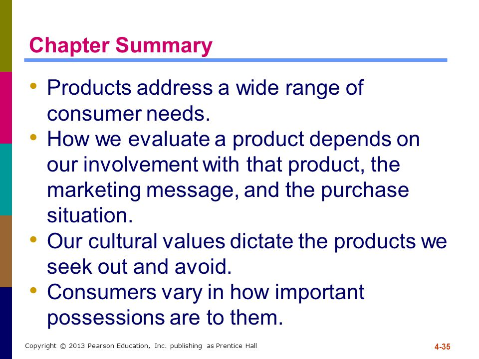 Products address a wide range of consumer needs.
