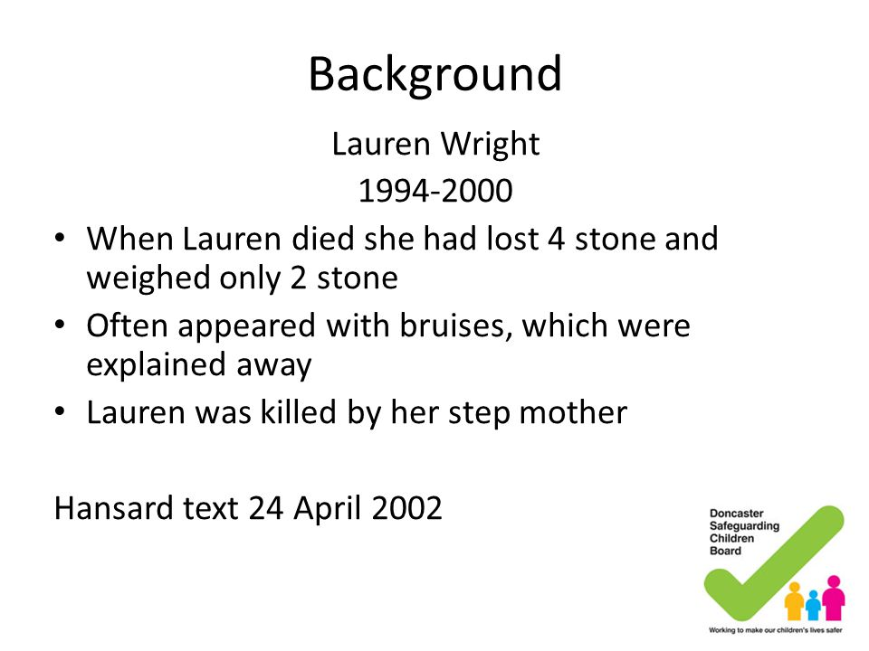 Background Lauren Wright 1994-2000