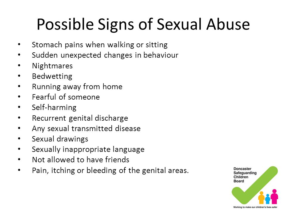Possible Signs of Sexual Abuse