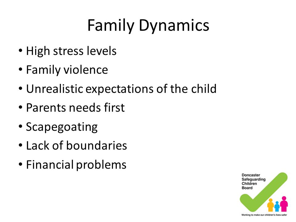 Family Dynamics High stress levels Family violence