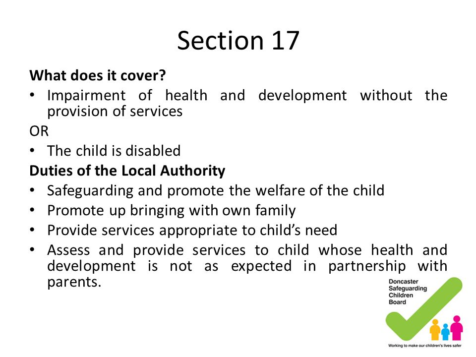 Section 17 What does it cover