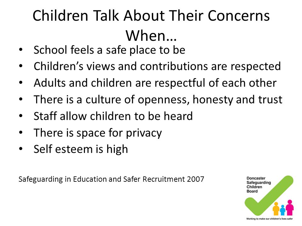 Children Talk About Their Concerns When…