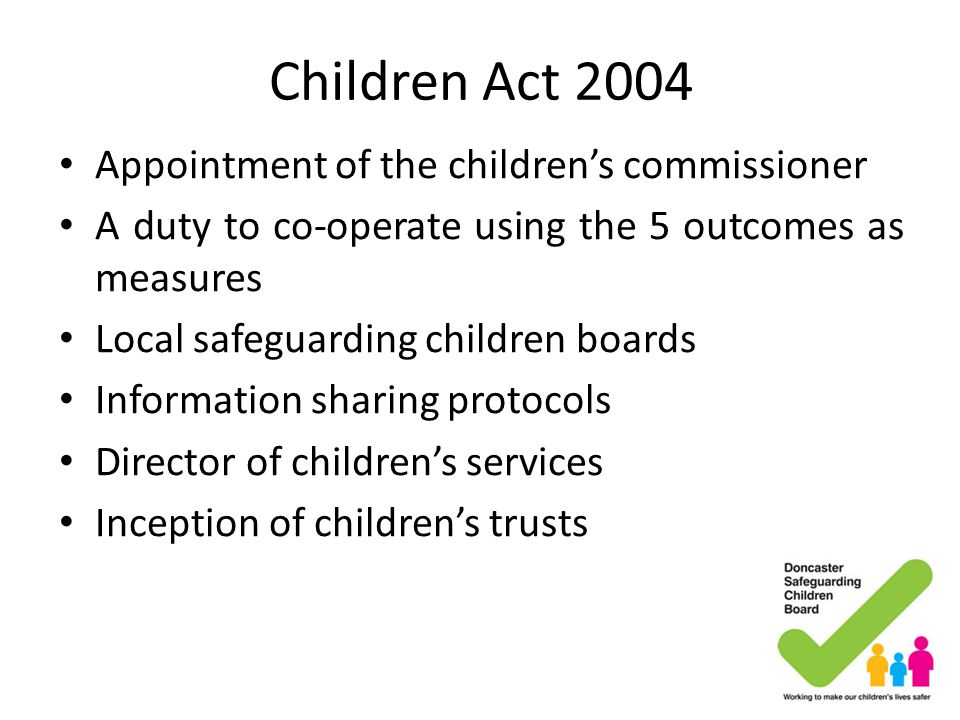 Children Act 2004 Appointment of the children's commissioner